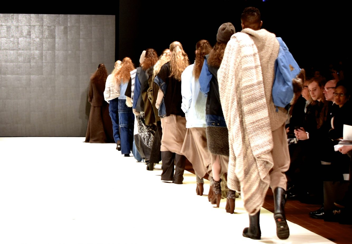 Collection overview on catwalk.